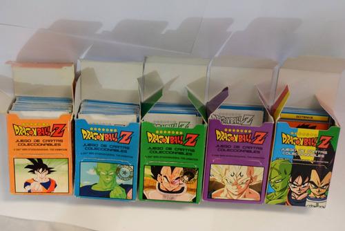 lote cartas dragon ball z (verde - tricolor)