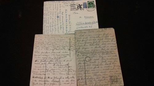 lote cartas  postales  antiguas alemania