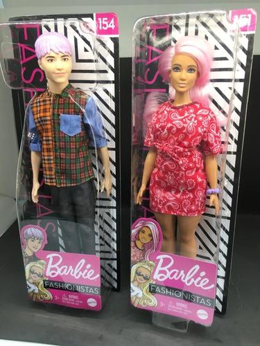 lote  casal barbie fashionistas ken e barbie 151 e 152