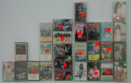 lote cassette norteño tejano banda tropical grupero nuevos j