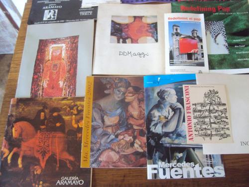lote catalogos exposiciones de arte artistas duarte fuentes