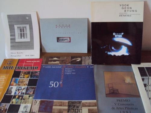 lote catalogos exposiciones de arte plasticas artistas