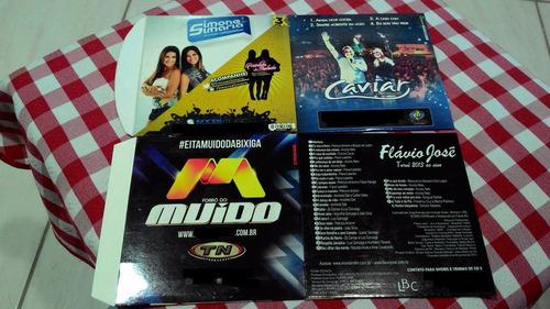 lote cds de bandas e cantor de forró + frete grátis