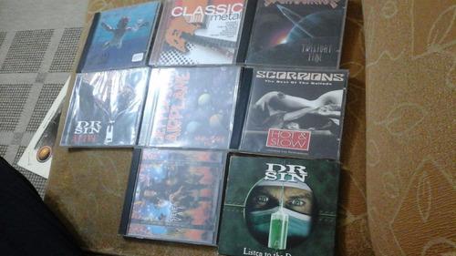 lote cd's de rock - 8 cd's