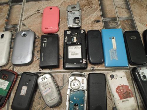 lote celulares lg,gradiente , sansung  não vendo separados