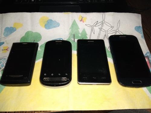 lote celulares usados sony / lg / samsung