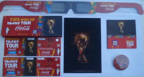 lote coca cola mundial s.a fifa world cup trophy tour