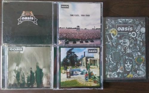 lote coleccion oasis cd originales varios + dvd