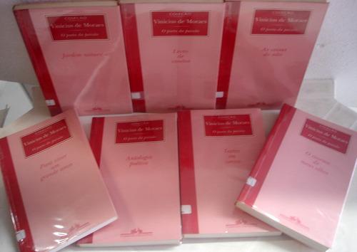 lote coleção vinicius de moraes o poeta da paixão - 7 livros