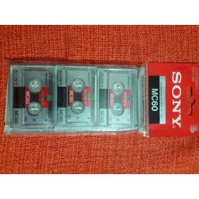 Lote Com 03 Micro Fitas Cassete Sony 3mc-60 Lacradas