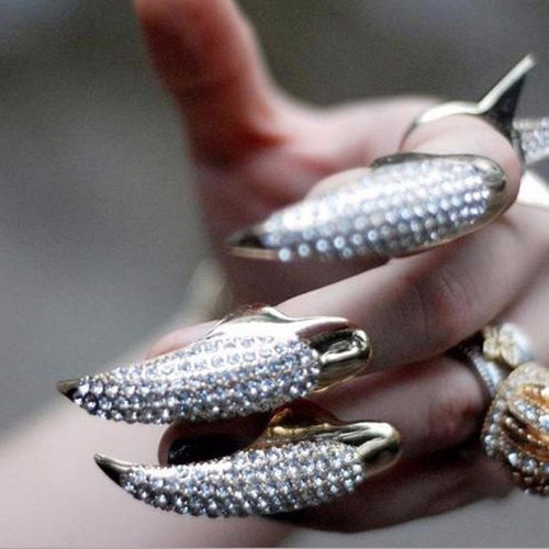 lote com 10 anel falange punk puro strass atacado revenda