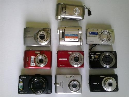 lote com 10 camera digital com defeito