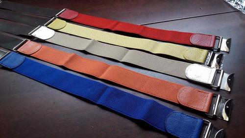 lote com 10 cintos fem placa importado varias cores ref: 156