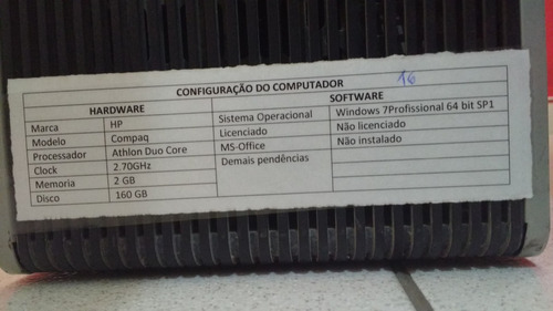 lote com 10 cpu's 1gb 2.20ghz/2.60ghz/2.70ghz 160gb