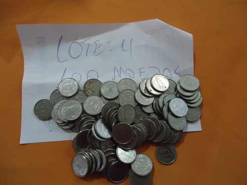 lote com 100 moedas nacionais 100 cruzeiros 1992- peixe boi.
