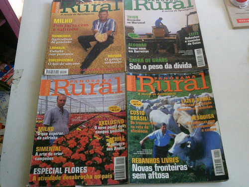 lote com 17 revistas panorama rural