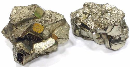 lote com 2 piritas qualidade extra 219g 50mm pedras naturais