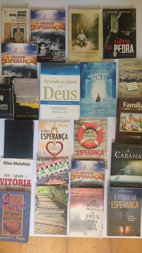 lote com 22 livros evangélicos cristão frete grátis