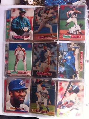 lote com 230 cards de baseball anos 80-90