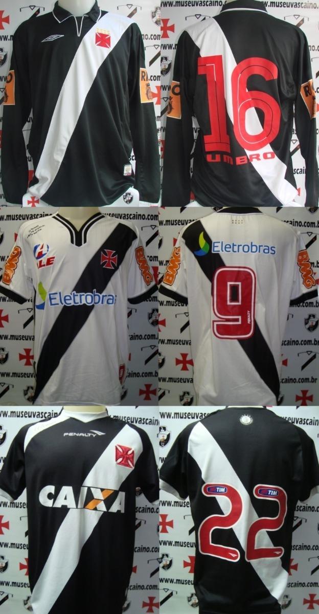 f259751c44151 Lote Com 3 Camisas De Jogo Vasco Da Gama 2004 2010 2013 - R  1.399 ...