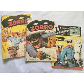 Lote Com 3 Gibis Zorro 3, 4, 70 Em Fac-símile - Frete Grátis
