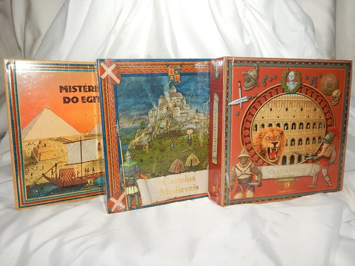 lote com 3 livros infanto juvenil em 3d - ciranda cultural