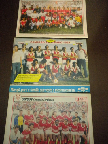 lote com 3 posters sergipe revista placar aracaju