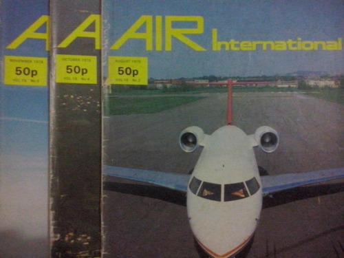 lote com 3 revistas air international 1978