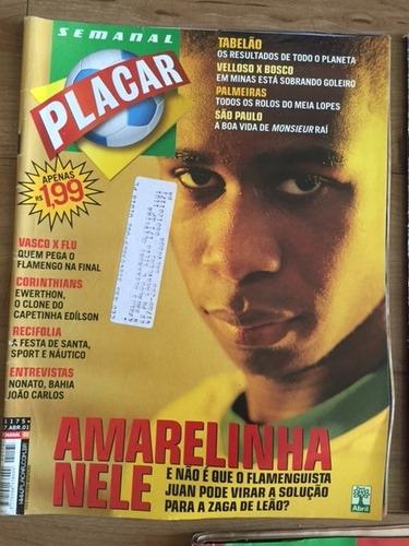 lote com 3 revistas placar - 2001 - futebol, sexo e rock