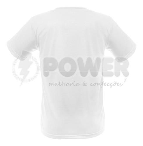 lote com 30 camisas para sublimação brancas