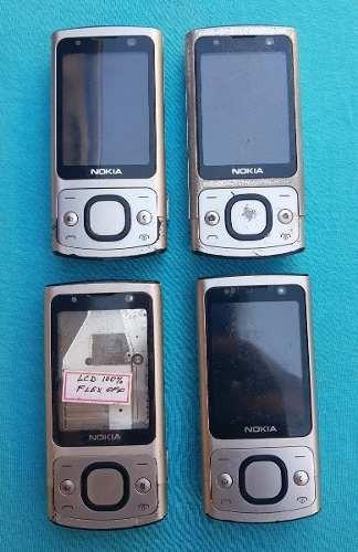 lote com 4 celulares nokia 6700  (leia a descrição)