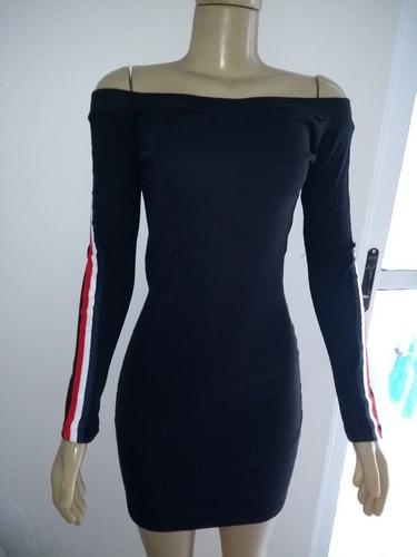 lote com 4 vestidos curto ombro a ombro tubinho frete gratis