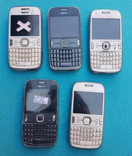 lote com 5 celulares nokia 302  (leia a descrição)