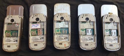 lote com 5 celulares nokia 7230 (leia a descrição)