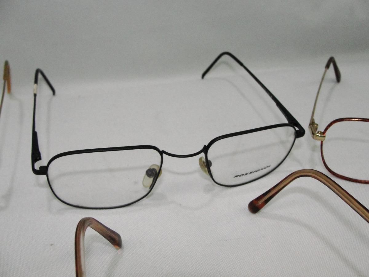 8c403e6e7d672 Lote Com 5 Oculos Antigos Armação Anos 80 Lot Oc07 - R  129