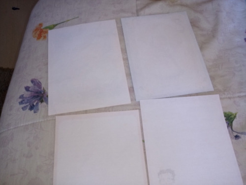 lote com 5 papel de carta antigos frete 10,00  #692
