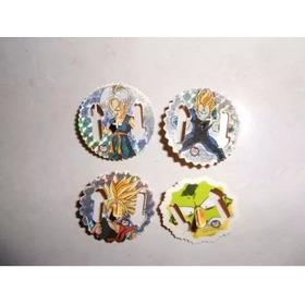 Lote Com 5 Tazos Dragon Ball Z Spiners Evolution Elma Chips