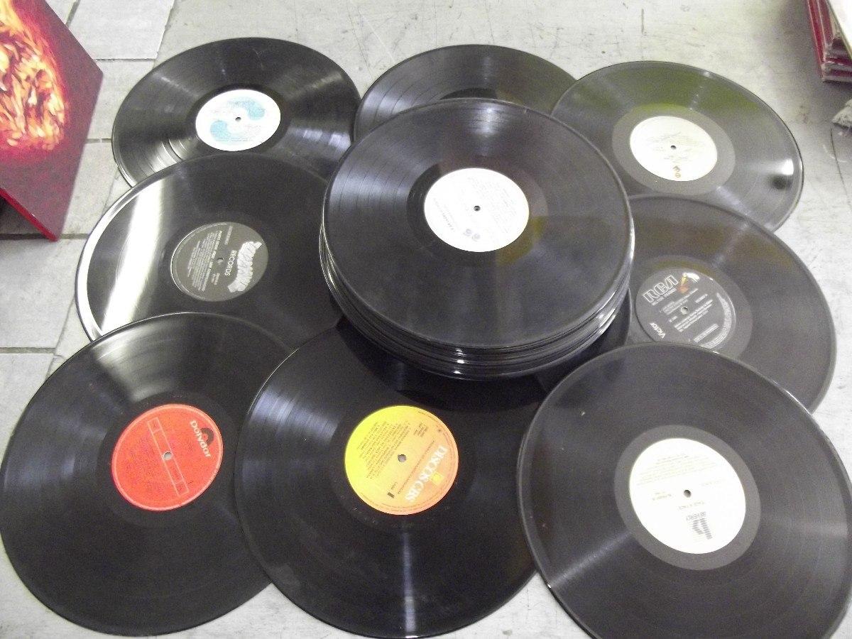 Lote com 50 lps discos de vinil para artesanato decora o for Things to make with old records
