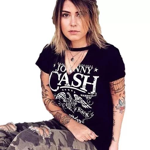 2004fe5f25 Lote Com 6 Camisetas T-shirt Gola Chocker Moda Feminina - R  159