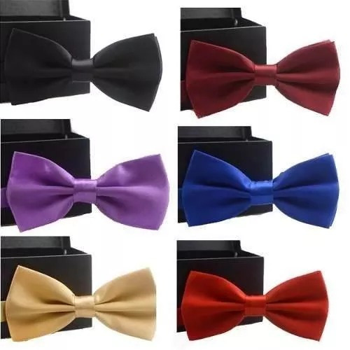 lote com 6 gravatas borboleta com regulador adulto