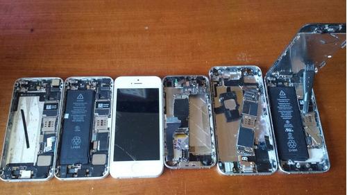 lote com 6 iphones variados para sucata