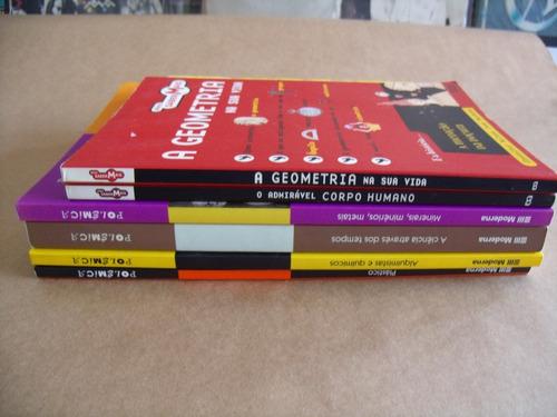 lote com 6 livros infanto juvenil variado corpo humano geome