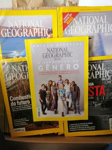lote com 6 national geographic