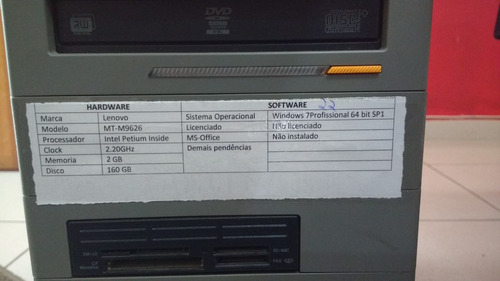 lote com 7 cpu's 1gb 2.20ghz/2.60ghz/2.70ghz 160gb