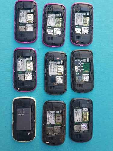 lote com 9 celulares nokia 200 e 201 (leia a descrição)