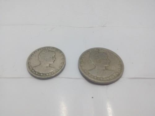 lote com duas moedas de 200 e 400 reis