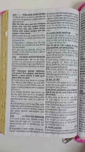 lote com seis bíblia com harpa letra gigante zíper rc oferta