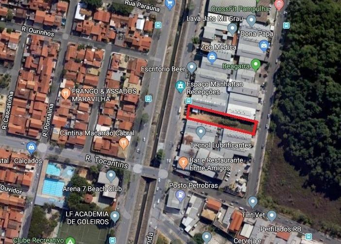 lote comercial de 1.230 m² no bairro castelo. - 3498