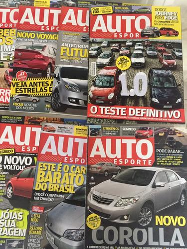 lote completo do ano 2008 - revista auto esporte 12 edições