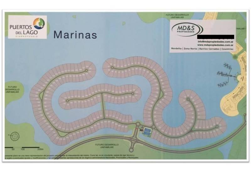 lote con excelente vista! barrio marinas, puertos del lago